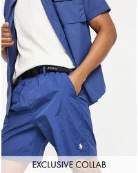 Эксклюзивные Темно-синие Шорты Из Ткани Рипстоп С Ремнем И Логотипом В Виде Игрока В Поло X Asos-темно-синий Polo Ralph Lauren для него, цвет: Blue