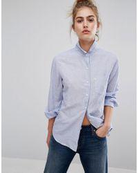 Levi's Blue Levi's Boyfriend Stripe Shirt