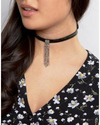 ASOS | Green Limited Edition Wrap Around Jewel Velvet Ribbon Choker Necklace | Lyst