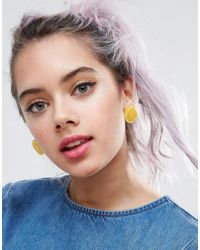 ASOS - Yellow Limited Edition Lemon Stud Earrings - Lyst