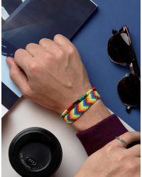 ASOS - Blue Festival Bracelet Pack for Men - Lyst