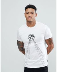DIESEL White T-diego-tb Laser Print T-shirt With Back Print for men