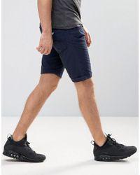 Armani Jeans Blue 5 Pocket Slim Fit Shorts In Navy for men