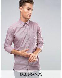 Ted Baker   Red Tall Slim Smart Shirt In Spot for Men   Lyst
