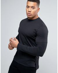 New Look Layered T-shirt In Black for men