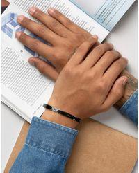 Mister - Roman Cuff Bracelet In Black for Men - Lyst