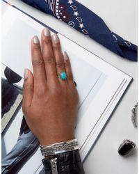Regal Rose - Metallic Sterling Silver Lotti Turquoise Ring - Lyst
