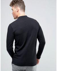 Jack & Jones Black Premium Slim Textured Polo for men