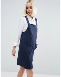 Vero Moda Blue Pinafore Dress