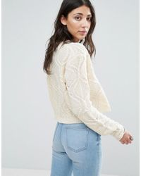 Raga Multicolor Durango Cropped Cable Knit Sweater