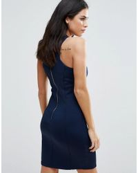 Zibi London - Blue Bodycon Dress With Removable Necklace - Lyst