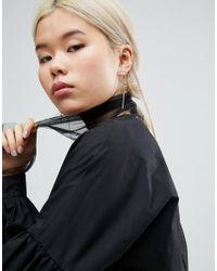 ASOS - Metallic Toggle Hoop Earrings - Lyst