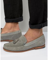 Ted Baker | Gray Dougge Suede Tassel Loafers for Men | Lyst