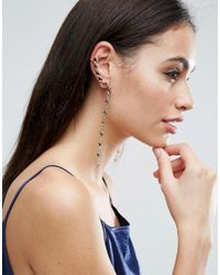 ASOS - Multicolor Draping Jewel Ear Cuffs - Lyst