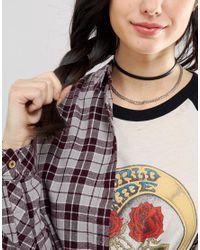 ASOS | Black Loop Chain Choker Necklace | Lyst