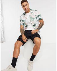 Рубашка С Короткими Рукавами И Отложным Воротником -многоцветный Topman для него, цвет: Multicolor