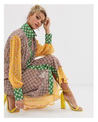 Платье Миди С Контрастными Вставками -мульти Never Fully Dressed, цвет: Multicolor