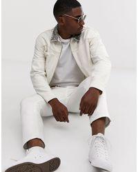 Premium - Giacca bianca con colletto pitonato di Jack & Jones in White da Uomo