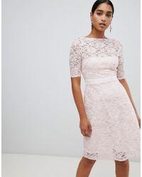 Vesper Multicolor 3/4 Sleeve Skater Dress