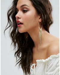 ASOS | Metallic Chainmail Hoop Earrings | Lyst