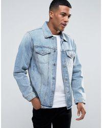 DIESEL   Blue N-hill Denim Trucker Jacket for Men   Lyst