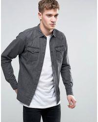 DIESEL | Black New-sonora-e Denim Shirt Slim Fit for Men | Lyst