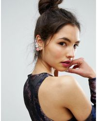 ASOS - Pink Rose Chain Ear Cuff - Lyst