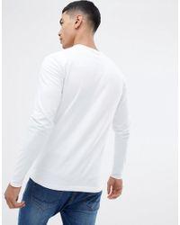 Jameson - T-shirt attillata a maniche lunghe bianca - In esclusiva su ASOS di Jack Wills in White da Uomo