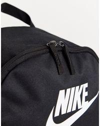 Zaino nero con logo di Nike in Black da Uomo