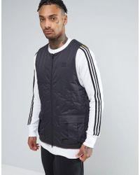 Adidas Originals Shadow Tones Quilted Tank In Gray Ce7112 for men