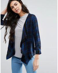 Vero Moda | Blue Waterfall Cardigan | Lyst