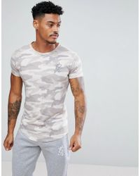 Gym King - Multicolor Muscle T-shirt In Stone Camo for Men - Lyst