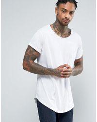 G-Star RAW | White Longline Vontoni Crew Neck T-shirt for Men | Lyst