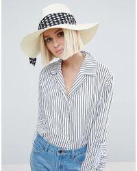 Eugenia Kim | White Genie By Willa Ivory Straw Hat With Polka Dot Scarf Trim | Lyst