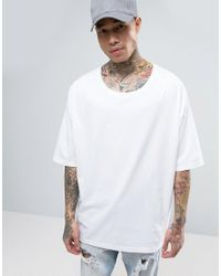 ASOS | Super Oversized T-shirt In White With Rib Scoop Neck for Men | Lyst
