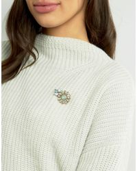 ASOS | Multicolor Jewel Flower Brooch | Lyst