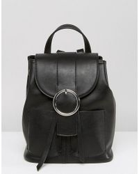 ASOS   Black Buckle Backpack   Lyst