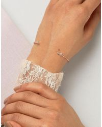 ASOS - Metallic Mini Star Open Cuff Bracelet - Lyst
