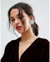 ASOS | Metallic Glitter Disc Stud Earrings | Lyst