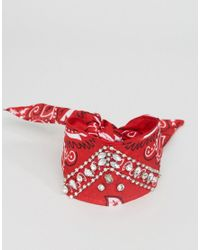 ASOS | Red Embellished Multiway Bandana Choker & Bracelet | Lyst