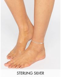 Kingsley Ryan | Metallic Sterling Silver Feather Anklet | Lyst