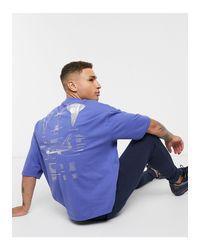 T-shirt oversize con stampa NASA argentata sulla schiena e sul petto di ASOS in Blue da Uomo