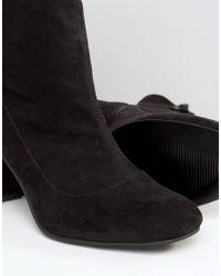 ASOS - Black Edoa Sock Boots - Lyst