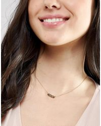 Orelia - Metallic Find Your Inner Peace Necklace Gift Card - Lyst
