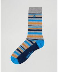 Original Penguin - Blue 3 Pack Sock Gift Set for Men - Lyst