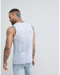 PUMA - Blue Jersey Logo Vest for Men - Lyst