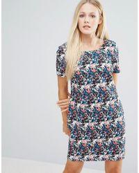 Girls On Film | Blue Floral Shift Dress With V-neck Back | Lyst