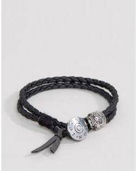 Icon Brand | Double Woven Wrap Bracelet In Black for Men | Lyst