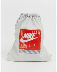 Nike Grijze Jaren 90 Tas Met Trekkoord in het Green