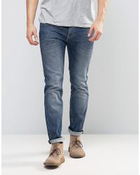 Lee Jeans | Jeans Rider Stretch Skinny Jeans In Blue Gloss for Men | Lyst